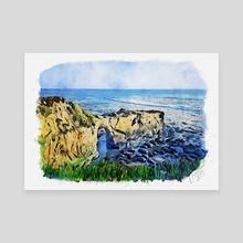 Natural Bridges in Santa Cruz - Mixed Media - Canvas by Dreamframer Art