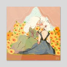 sunshine smooch - Acrylic by Kaila M