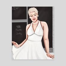 Modern Day Marilyn  - Canvas by Kameron Akery