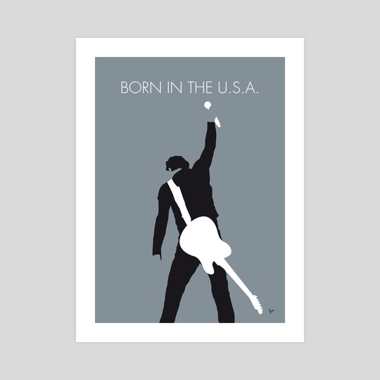 No017 MY Bruce Springsteen Minimal Music poster by Chungkong