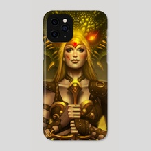 The Dragon Slayer - Phone Case by George Patsouras