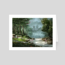 The Eastern Path - Art Card by Jennifer Lange