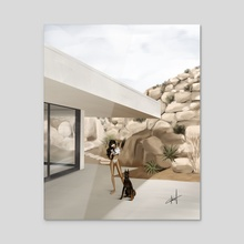 Outdoor  - Acrylic by Hamza Okai