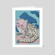 Abbey the Loop Leopard - Art Card by Hounyeh Kim