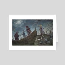 evil swamp - Art Card by lie setiawan