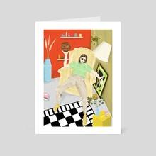 B Ball - Art Card by Ariel Buhlmann