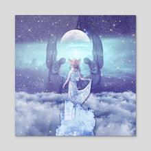 THE HIGH PRIESTESS TAROT CARD - Acrylic by Gloria Sánchez