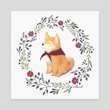 Doggo - Canvas by Mélanie Bouillat
