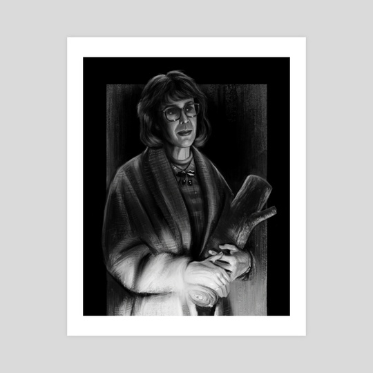 Log Lady - Twin Peaks by John Dervishi