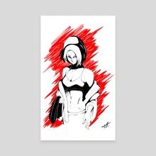 Get Ready - Misaki - Canvas by Ariele Robinson