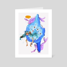 mermay 24 - sunfish - Art Card by Guinevere Reilly