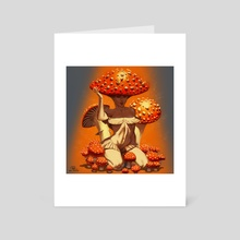 Mushroom Lady - Art Card by Will Rascoe