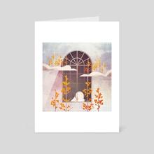 Outside The Window - Art Card by Annisa Tiara Utami
