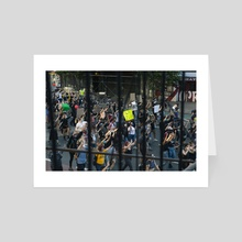 1st Ave Protest  - Art Card by Andreas Troeger