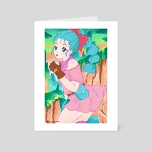 Dragon Ball Bulma - Art Card by Imani Samuel