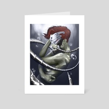 In the Tank - Art Card by Efrain Sosa