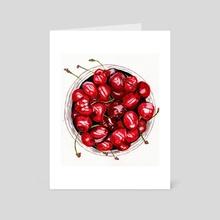 Cherries - Art Card by Galeria Ginkgo