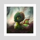 Succulent Dragon - Art Print by Johanna Rupprecht