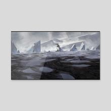 Wandering glaciers - Acrylic by Timi Honkanen
