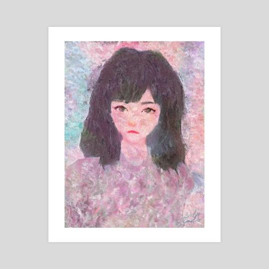 Melancholy Girl Portrait Impressionist Painting by Bridget Garofalo