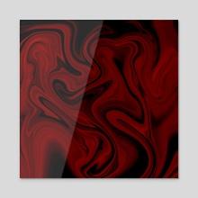 Red velvet waves - Acrylic by Anna Shapovalova