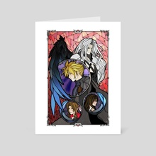 Final Fantasy VII Stained Glass - Art Card by Charity Santiago