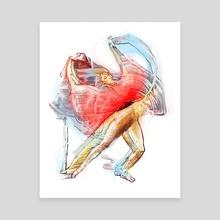 Blur dance colour  - Canvas by Pablo Puentes