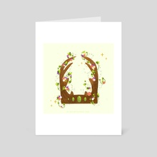 Summer solstice crown  - Art Card by Rachel Hughes