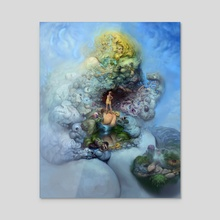 BLUE GOLD - Acrylic by Burton Gray