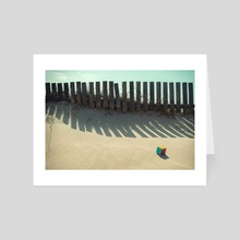 Rubik shading in the beach - Art Card by josemanuelerre