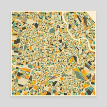 Vienna Map - Canvas by Jazzberry Blue