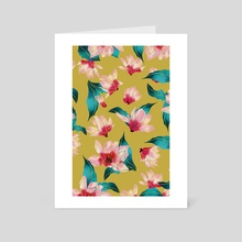 Floral Aura - Art Card by 83 Oranges