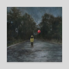 Red Balloon - Canvas by Dillon Samuelson