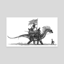 Civil war dino march - Canvas by Shaun Keenan
