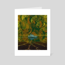 The Drowned World - Art Card by Party in the Front
