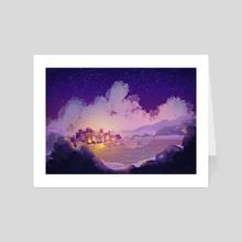 Twilight in the big city - Art Card by Lorini Art