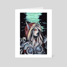 Sylvanas - Art Card by Charity Santiago
