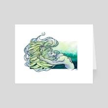 """Under - Art Card by Dana """"Tsuki"""" Cecile"""