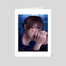 Koi fish: Jin - Art Card by Nour