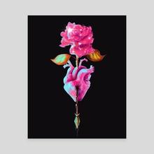 Growth Through Pain - Canvas by Nadia Diaz