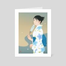 Evening fireflies - Art Card by Sai Tamiya
