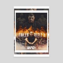 Lawler vs. Diaz 2 - Canvas by Danilo Almeida