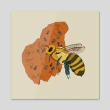 Bee - Acrylic by Lauren Dirgo