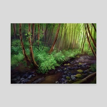 Forest Creek - Canvas by Maddy