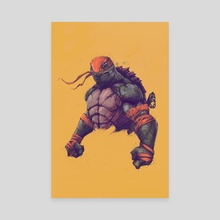 TMNT - MICHELANGELO - Canvas by Tonton Revolver