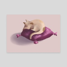 Sleepy Cat - Canvas by Erica Bortoloso