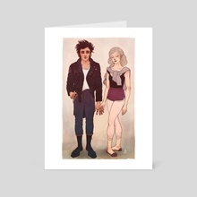 Jack and Claire - Art Card by Sarah Dvojack