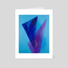 Triangles in Blue - Art Card by allison j. sebastian