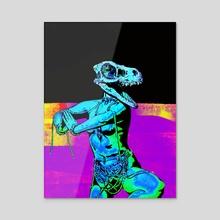 Pantheon - lysergic dub 2 - Acrylic by Mark Fielding