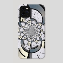 Colorful geometric fractal - Phone Case by Bruce Rolff